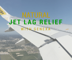 Natural Jet Lag Relief with Genexa - An all-natural, organic, hoomepathic remedy for jet lag and let you get the sleep you need when sleep won't come. We share a review of 2 over the counter homeopathic remedies that will help you relieve jet lag naturally.