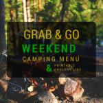 Grab and Go Weekend Camping Menu