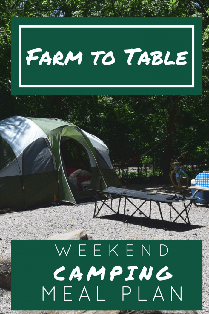 Farm to Table Weekend Camping Meal Plan graphic