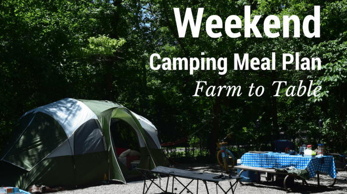 camping site - weekend meal plan graphic