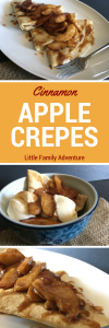 Celebrate the Flavors of Fall with Sauteed Cinnamon Apple Crepes - These simply delicious crepes are made with just a few ingredients and organic apples. They are perfect for breakfast, brunch, dinner, or dessert
