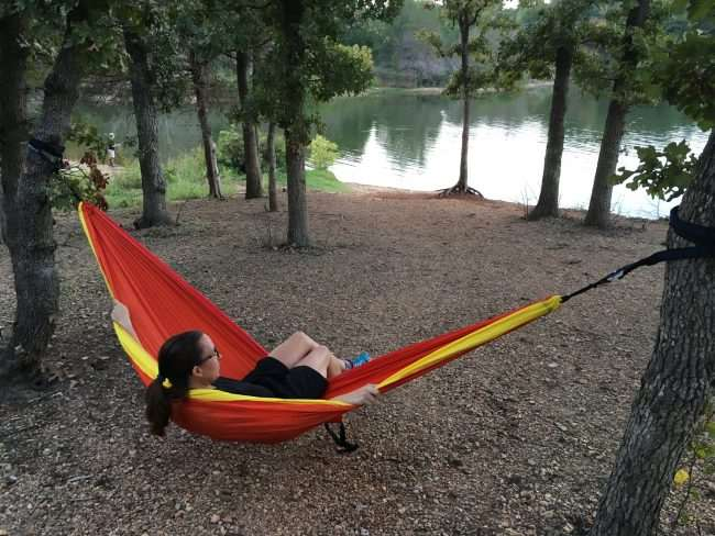 Essential Fall Gear Guide For Outdoor Families -Bring a hammock to relax and take a nap