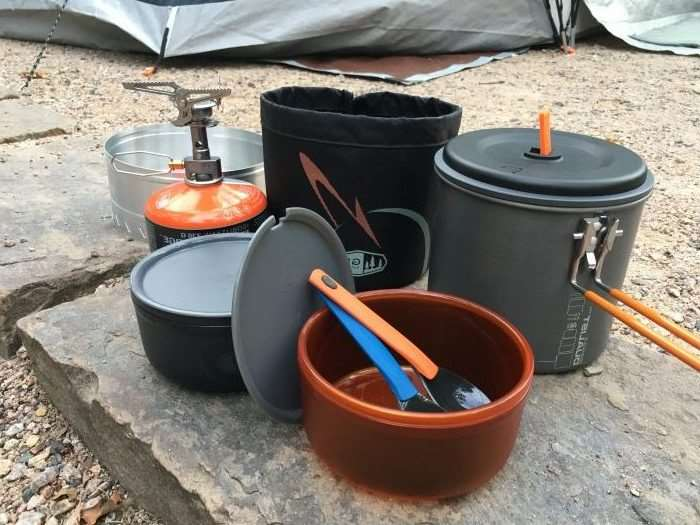 Essential Fall Gear Guide For Outdoor Families -- GSI Outdoors Pinnacle Dualist Complete