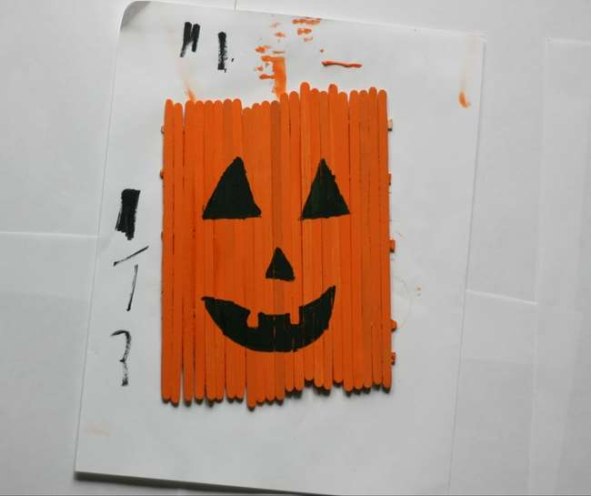 diy popsicle stick pumpkin