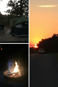 Camping in Chickasaw National Recreation Area in southern Oklahoma. The area is beautiful with the Lake of the Arbuckles, Little Niagara waterfall, hiking trails, and a great campground.