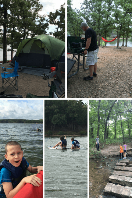 Camping in Chickasaw National Recreation Area, tent, kayaking, frest
