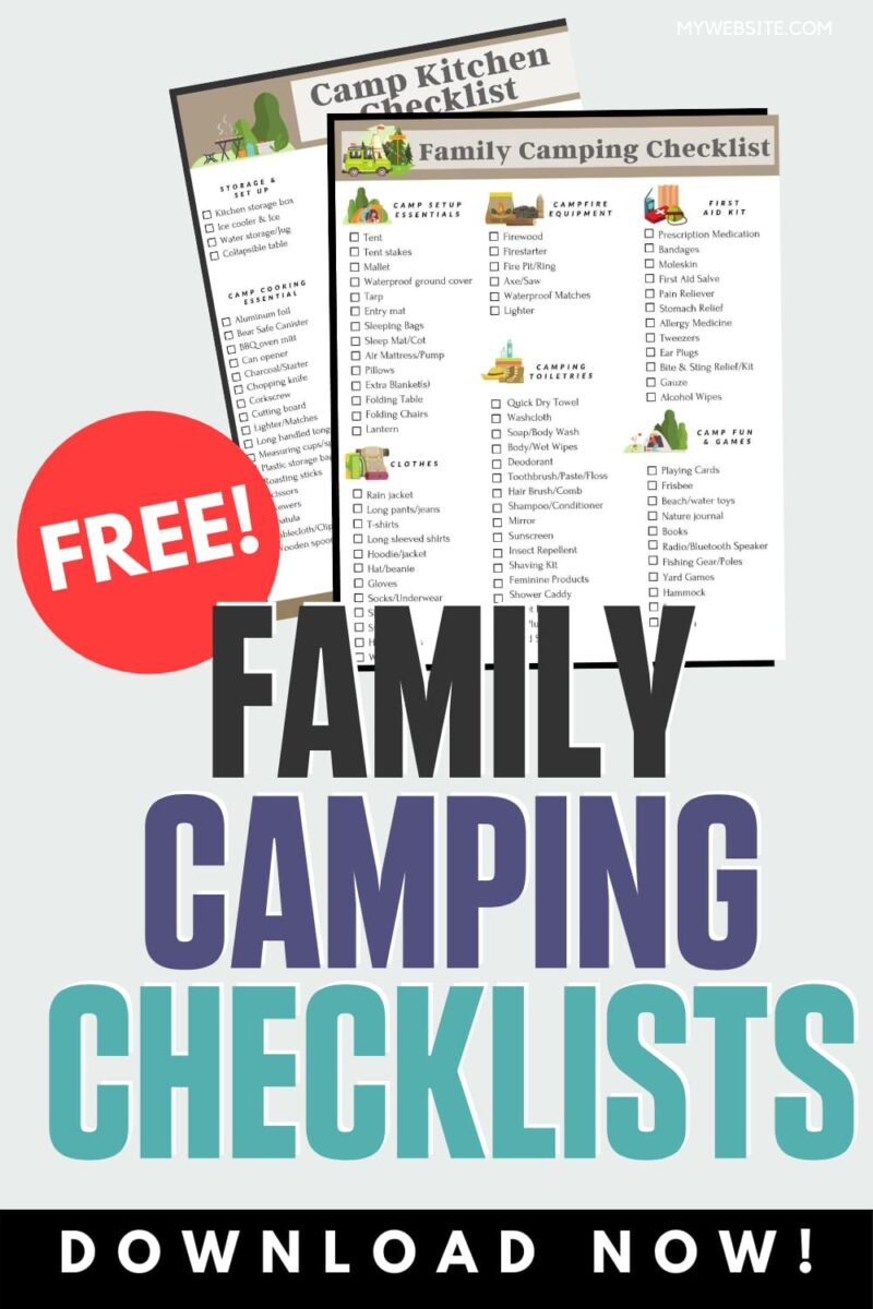 family camping checkists