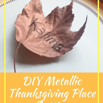 Easy DIY Metallic Thanksgiving Place Setting