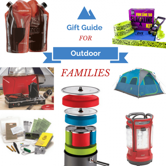 Holiday Gift Guide for Outdoor Families - gift ideas for nature lovers, campers, hikers, RVers, and outdoor adventurers. We have ideas for all ages.