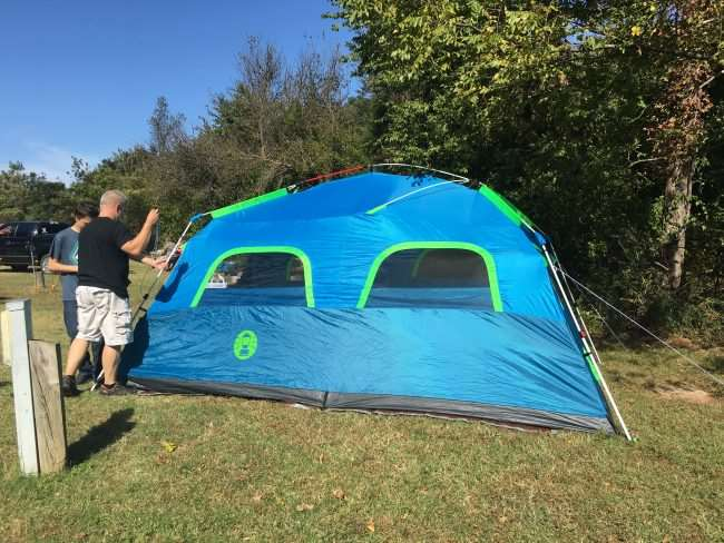 People setting up a tent - Coleman Instant Tent & Easy Camp Set Up with Coleman Instant Camping Tent