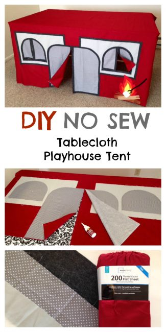 No Sew Camping Playhouse for Kids