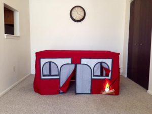 This is the BEST Indoor Camping Playhouse for Kids Anywhere