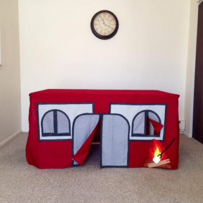 BEST (no-sew) Camping Indoor Playhouse for Kids