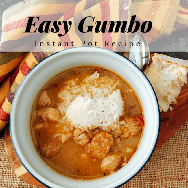 Chicken and Sausage Gumbo with rice