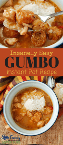Super Easy Gumbo Recipe - This Instant Pot Pressure cooker version is so simple to make it almost makes itself. I share the secret to getting the roux perfect every time