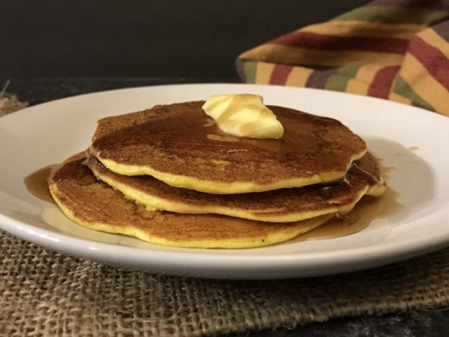 Gluten Free pancakes made with cottage cheese, eggs, and coconut flour