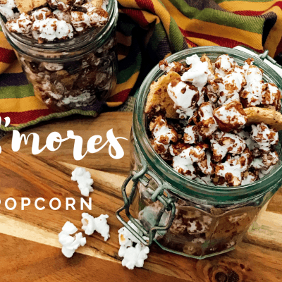 Easy S'Mores Popcorn Snack Mix