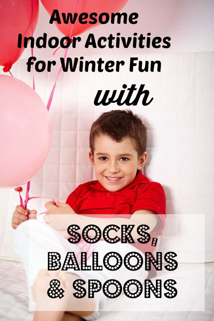 winter fun indoor activities awesome kids socks balloons