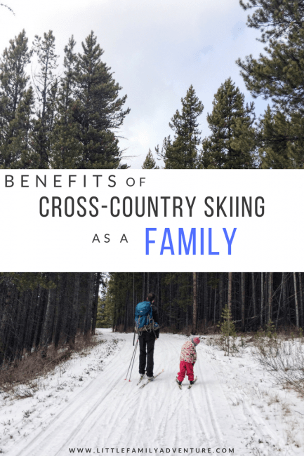 family backcountry skiing pinterest graphic