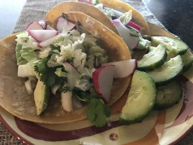 Create healthier meals for your family that they will want to get in the kitchen to create. Sun Basket meal delivery service provides organic family style meals each week. Each week you get recipes using organic ingredients for a real food meal I fill good feeding my family. These Fish tacos were a big hit