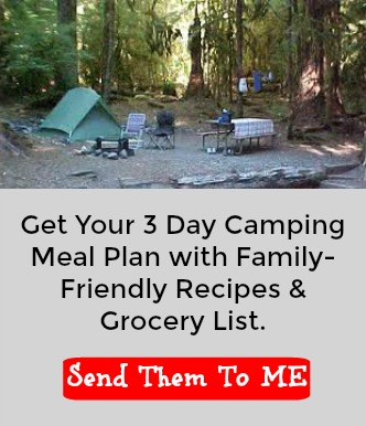 Camping Printable Family friendly recipes and grocery list
