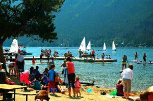 grand lake colorado beach sail boats family adventure