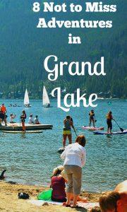 The Beach at Grand Lake Colorado sand sail boats and ice cream