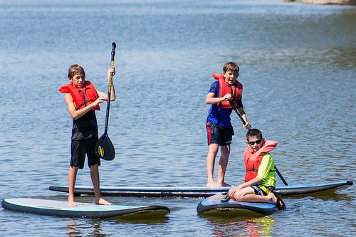 Stand Up Paddleboard with the kids Things to Do in Gulf Shores Alabama