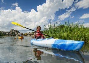 South Dakota State Park, outdoor family, kayaking, water sports