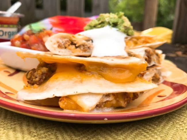 Camping Breakfast Quesadillas