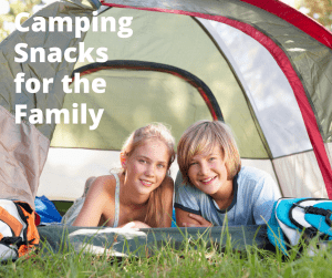Kids inside a tent - Camping Snacks for the family camping trip
