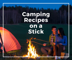 15 Camping Recipes that are perfect to cook over the campfire or on the grill. Breakfast, lunch, and dinner food that is cooked on a stick or skewer. - Its fun cooking for the outdoors.