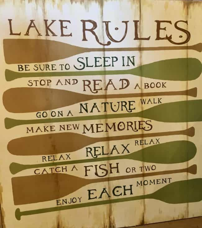 Lake Rules - Enjoy Each Moment