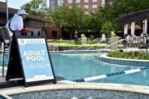 JadeWater at the Anatole -The Hilton at the Anatole is the perfect place to escape the Texas heat in Dallas. Their resort pool is a 2 acre summer oasis featuring a lazy river, water slides, pools, and a host of family-friendly activities.