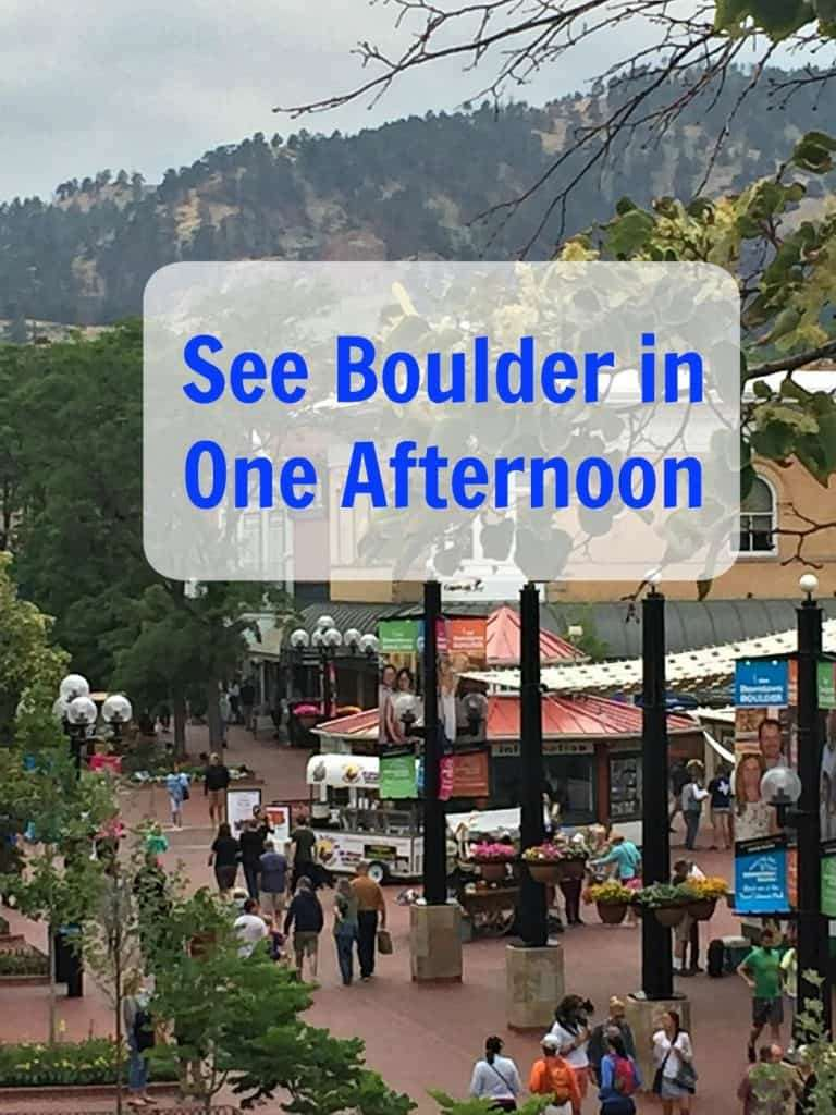 How to see Boulder in one afternoon with Kids
