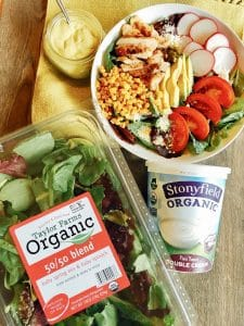 Southwest Chicken Salad with Roasted Poblano Dressing