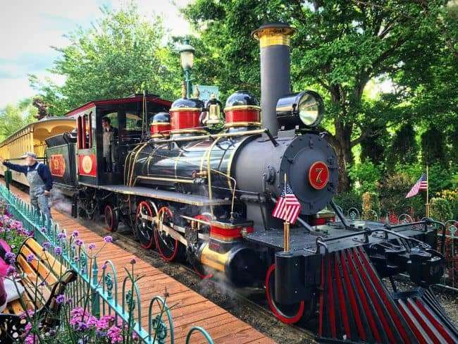 Replica Steam Engine at the Silverwood Theme Park - Train Ride is a great family ride for all ages