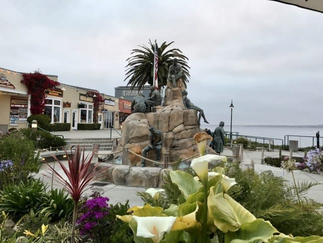Steinbeck Plaza in Cannery Row is a great stop when in Monterey, CA. From there you can go to the beach, grab a bite to eat or doing some shopping