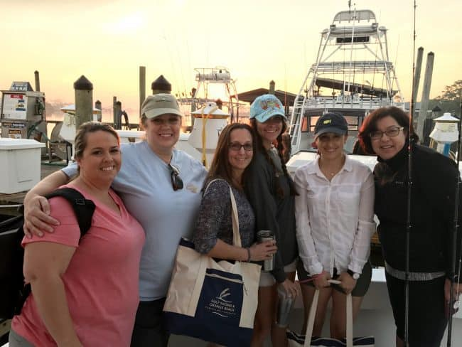 All female group heading out Deep Sea Fishing in Gulf Shores, Alabama