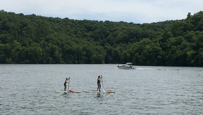 Stand Up Paddle Boarding with SUP Outfitters on Beaver Lake