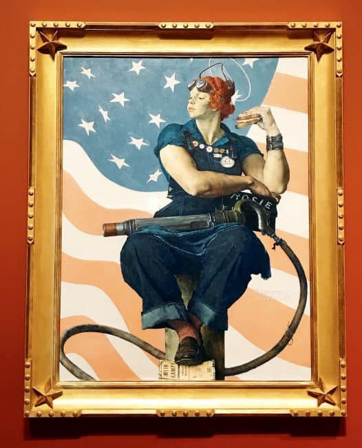 Rosie the Riveter by Normal Rockwell at the Crystal Bridges Museum of American Art