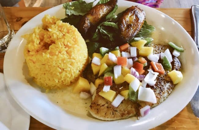 Mango Tilapia at Havana Tropical Grill in Rogers