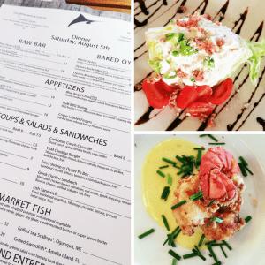 The Grand Marlin Menu and food