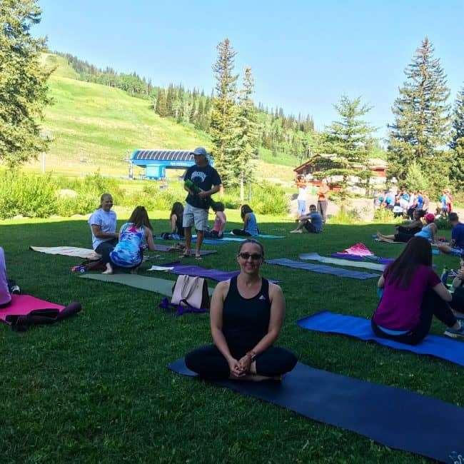 Yoga in Solitide - Saturday morning yoga at Solitude Mountain Resort