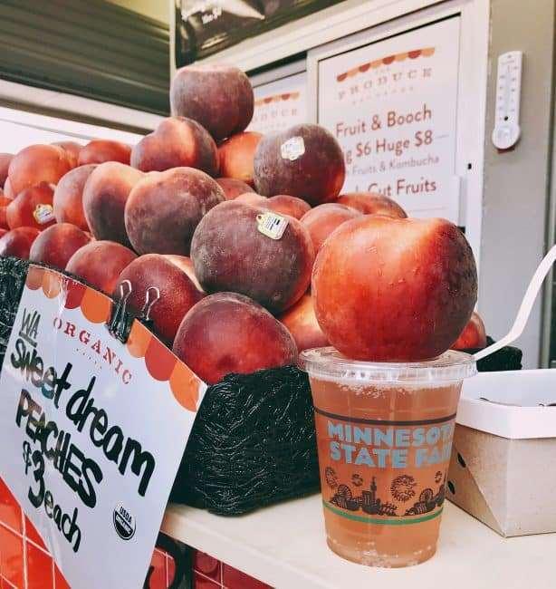 Sweet Peach and Kombucha