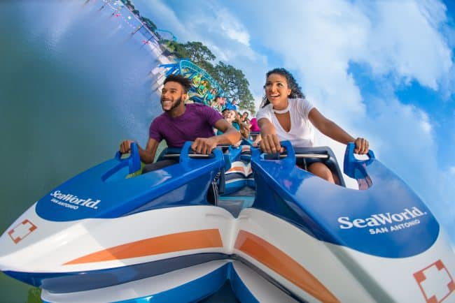 Wave Breaker ride at Sea World San Antonio
