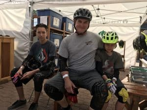 Geared out for mountain biking - father & sons