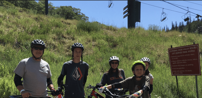Little Family Adventure Mountain Biking