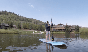 Stand Up Paddleboarding in Park City, Utah at the Deer Valley Resort - Choose from SUP rentals, beginners clinic, and yoga