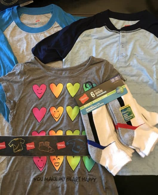 Hanes Tees and socks